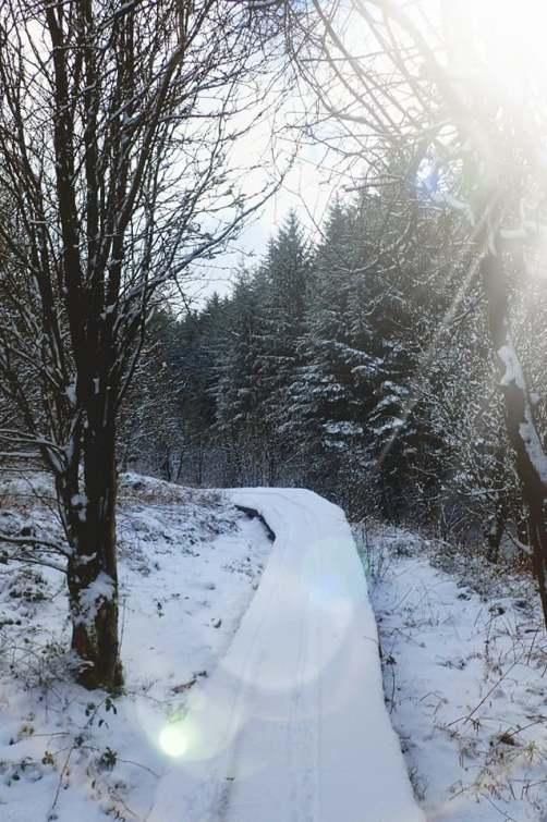 board walk snow llan