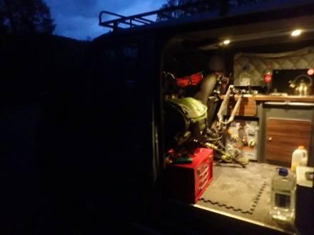 van at night mess